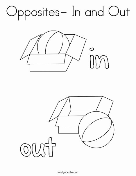 In and Out Worksheets for Preschoolers top Opposites In and Out Coloring Page Twisty Noodle