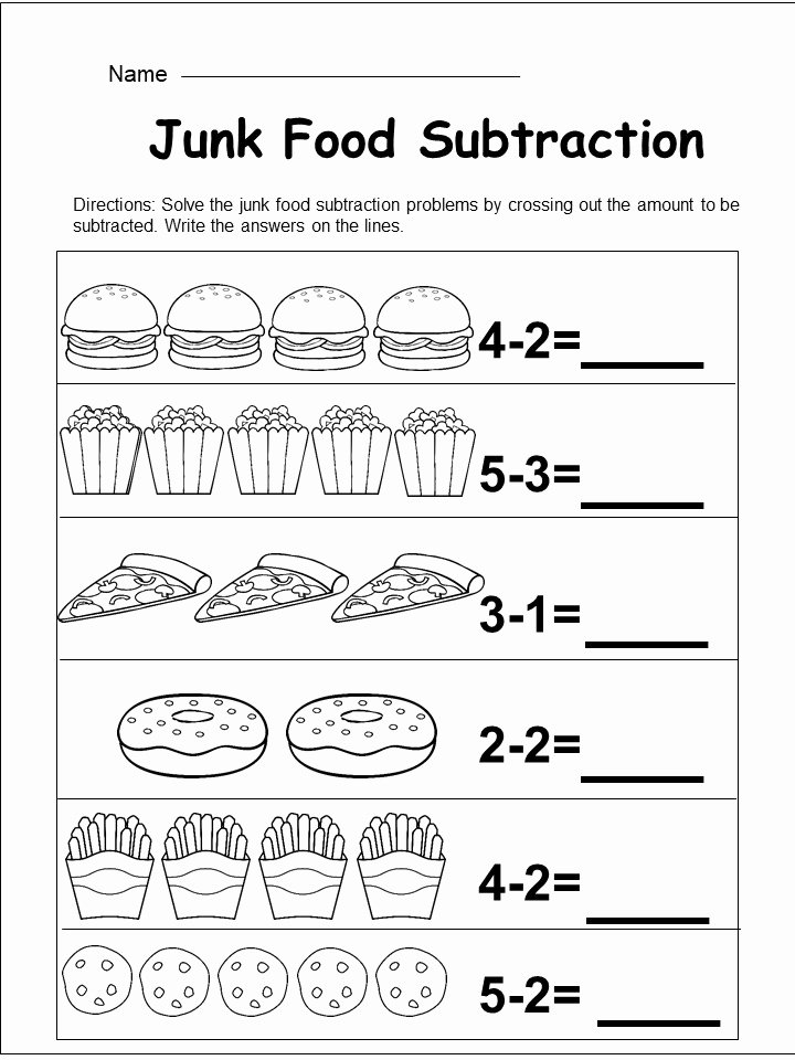 In and Out Worksheets for Preschoolers Unique Worksheet Worksheet Free Kindergarten Subtraction