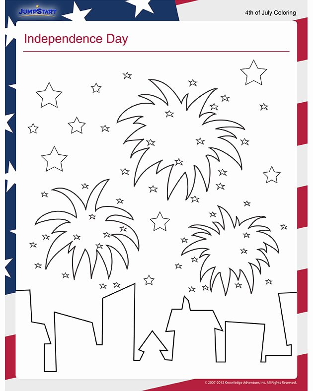 Independence Day Worksheets for Preschoolers Beautiful Independence Day View – Free July 4th Coloring Page for Kids