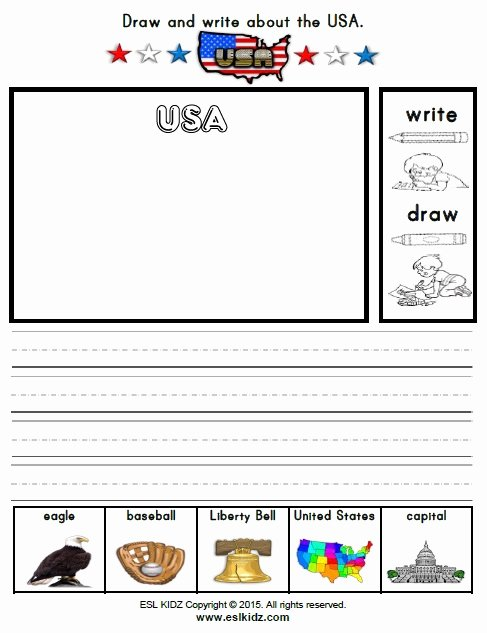 Independence Day Worksheets for Preschoolers Beautiful Usa Activities Games and Worksheets for Kids