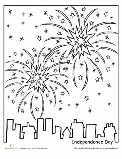 Independence Day Worksheets for Preschoolers Best Of Worksheets Independence Day Coloring Page Preschool Items