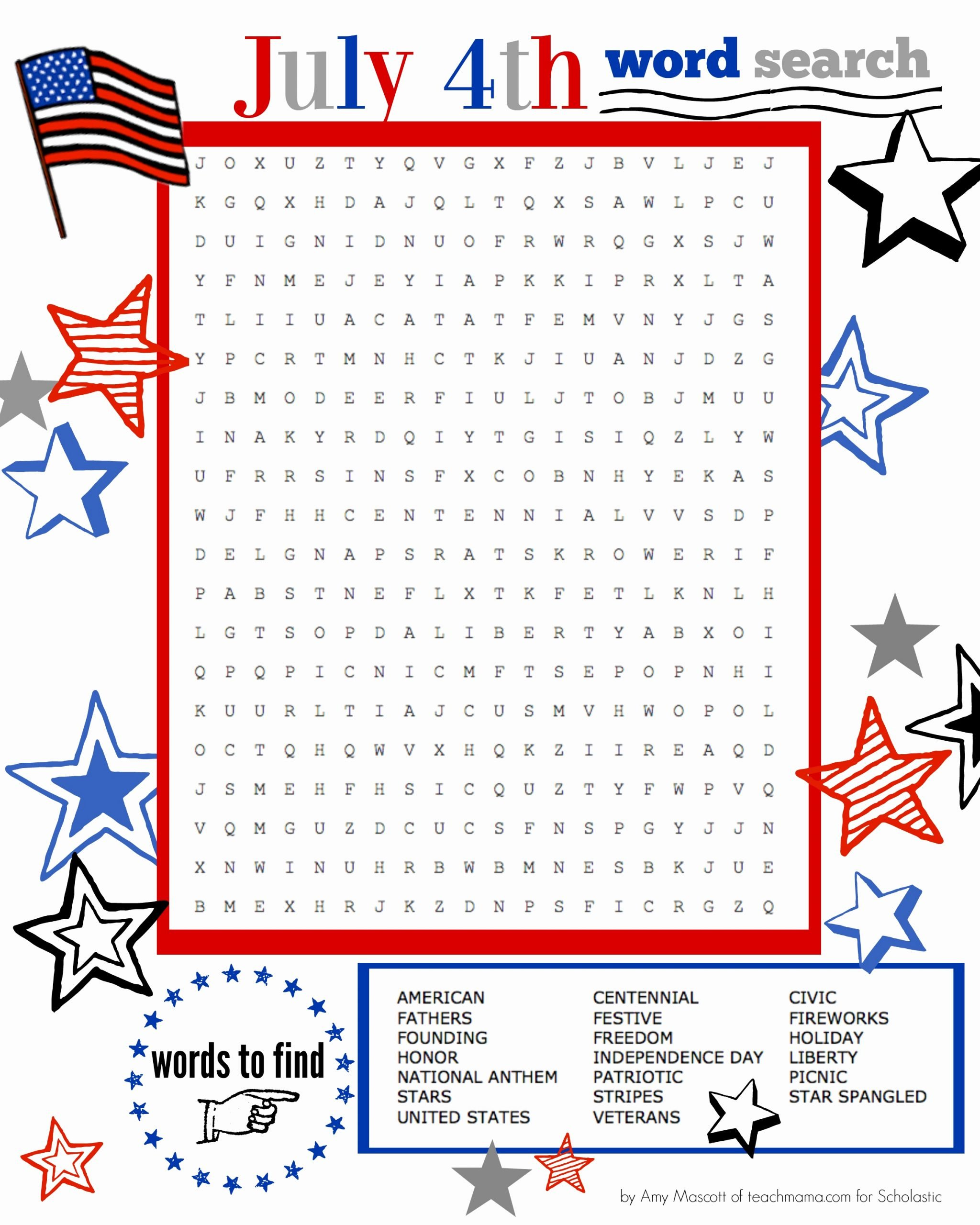 Independence Day Worksheets for Preschoolers Lovely Independence Day Word Search