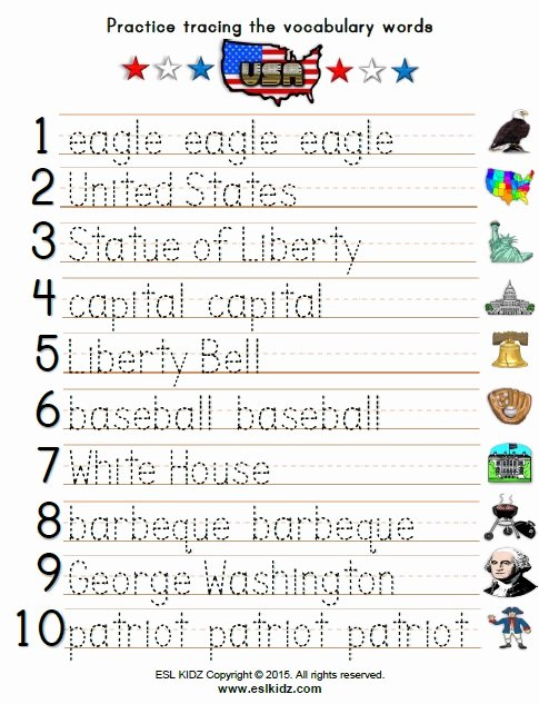 Independence Day Worksheets for Preschoolers Lovely Usa Activities Games and Worksheets for Kids