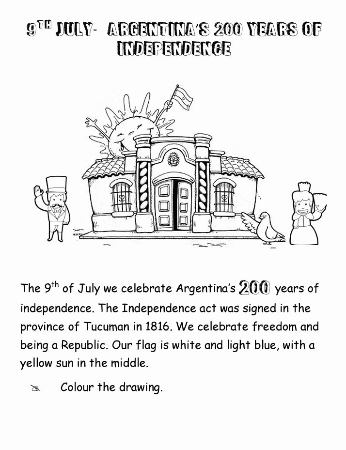 Independence Day Worksheets for Preschoolers Lovely Worksheet Argentina S Independence Day 200years Of