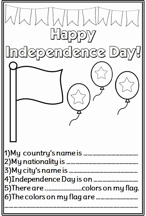 Independence Day Worksheets for Preschoolers top Independence Day Activity 479—710 Piksel