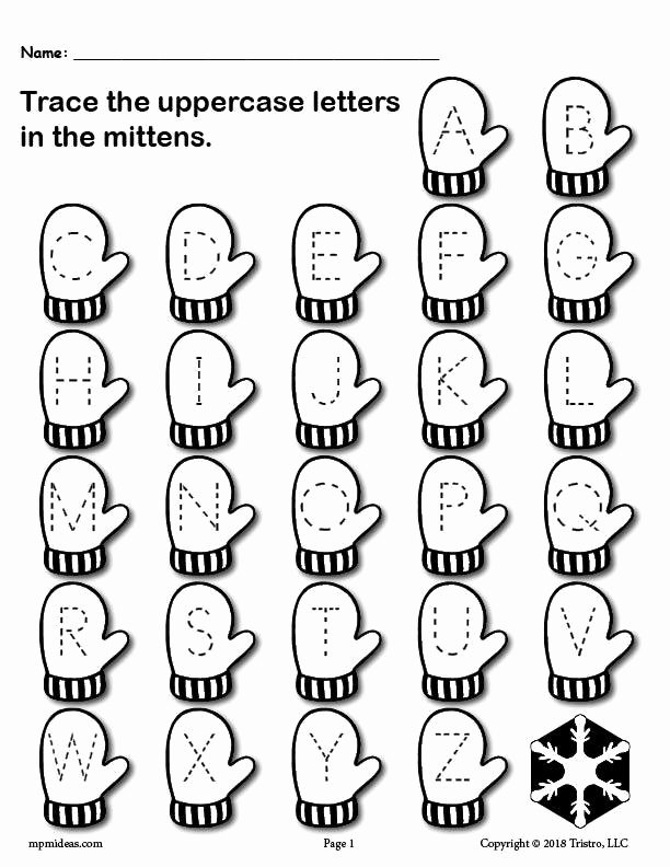 January Worksheets for Preschoolers Best Of Printable Winter themed Uppercase and Lowercase Alphabet Letter Tracing Worksheets