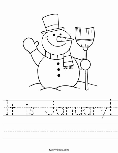 January Worksheets for Preschoolers Fresh It is January Worksheet
