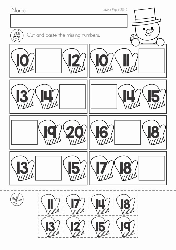January Worksheets for Preschoolers Inspirational Winter Math Worksheets Activities No Prep Cut and Paste
