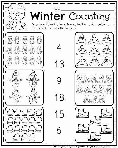 January Worksheets for Preschoolers Unique January Kindergarten Worksheets