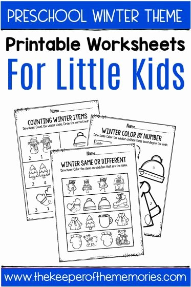 January Worksheets for Preschoolers Unique Winter Printable Preschool Worksheets the Keeper Of the