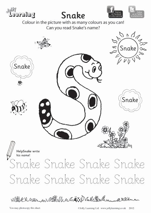 Jolly Phonics Worksheets for Preschoolers Lovely Colouring Worksheets Jolly Learning Jolly Learning