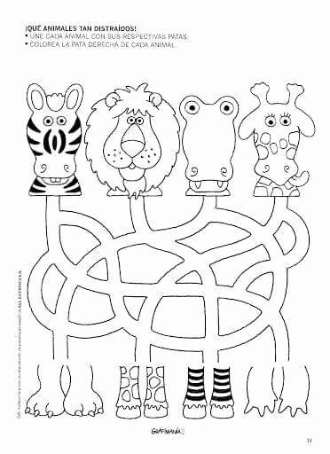Jungle Animals Worksheets for Preschoolers Unique Pin by Joyce Alexander On Preescolarcito