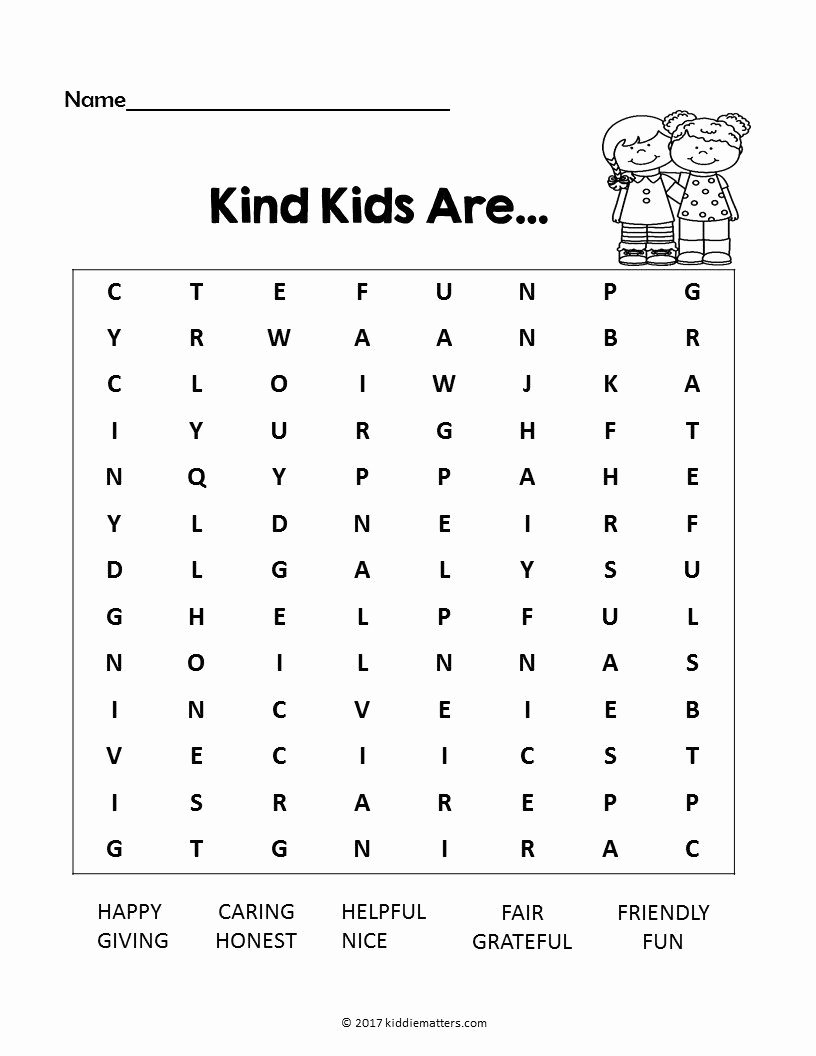 Kindness Worksheets for Preschoolers Best Of Acts Of Kindness Ideas for Kids with Free Printable Kid