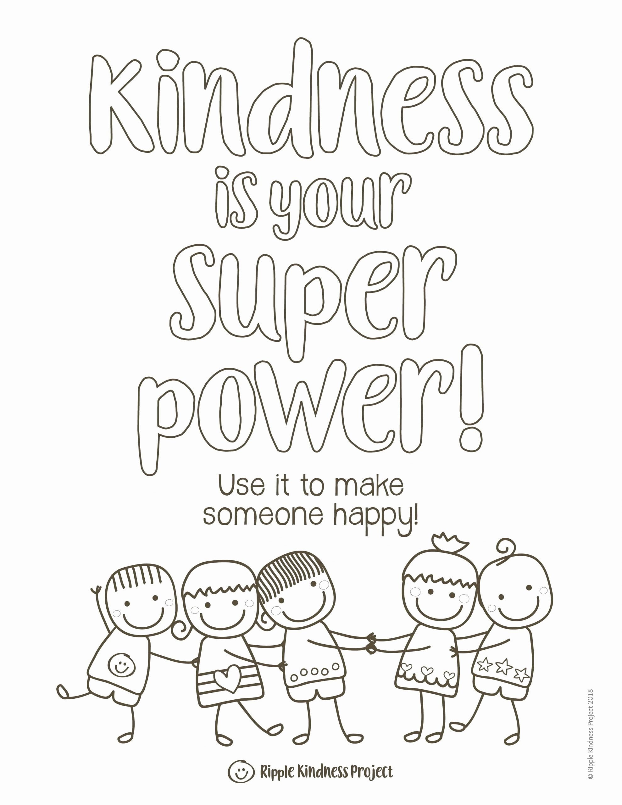 Kindness Worksheets for Preschoolers Fresh Kindness Coloring Pages Kindness Activities Kindness