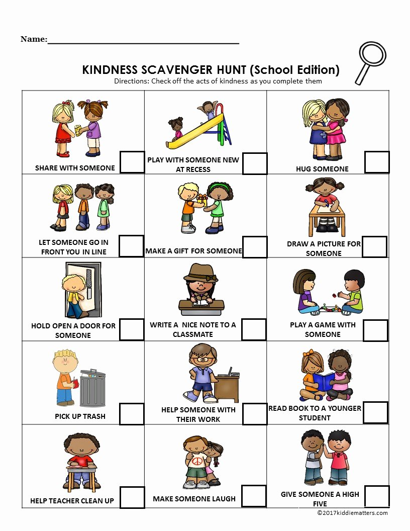 Kindness Worksheets for Preschoolers New Acts Of Kindness Ideas for Kids with Free Printable Kid