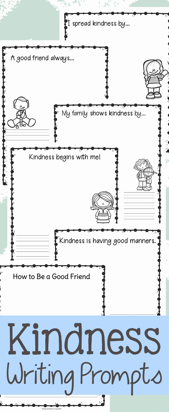 Kindness Worksheets for Preschoolers top Worksheet Kindness Writing Prompts Exercises fornder