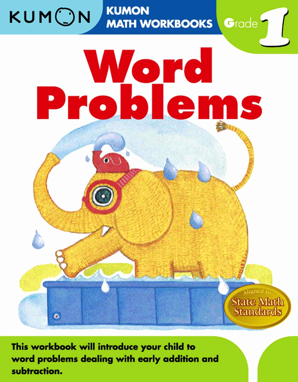 Kumon Math Worksheets for Preschoolers Beautiful Word Problems Grade 1 Kumon Math Workbooks Amazon