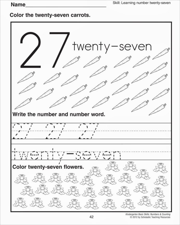 Kumon Worksheets for Preschoolers top Number Worksheets Preschool Printable and Tk