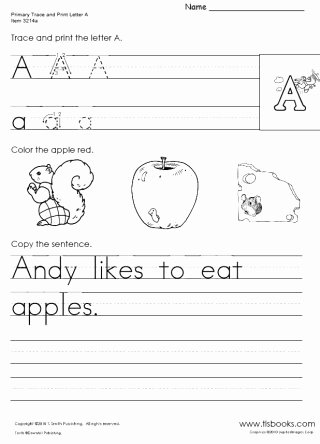 Learn to Write Worksheets for Preschoolers Best Of Kindergarten Trace and Print Packet