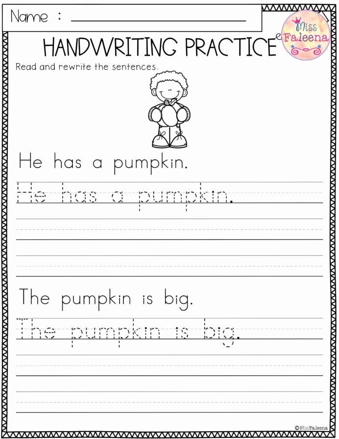 Learn to Write Worksheets for Preschoolers Inspirational Free Handwriting Practice Worksheets for Kindergarten