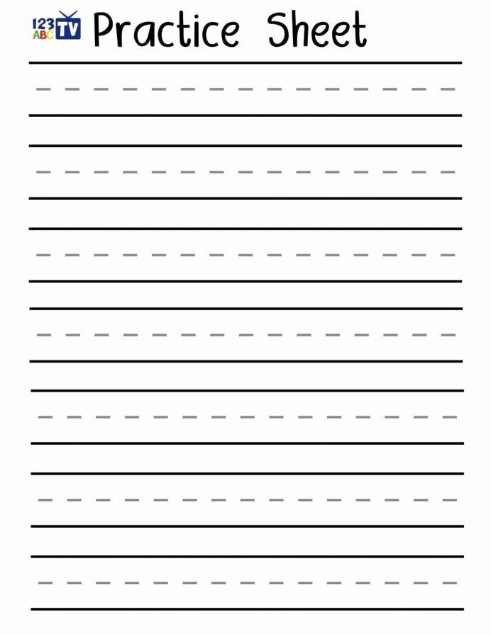 Learn to Write Worksheets for Preschoolers Inspirational Handwriting Worksheets for Kids Print Kindergarten Printable