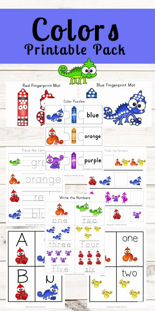 Learning Colors Worksheets for Preschoolers Unique Chameleon Learning Colors Worksheets