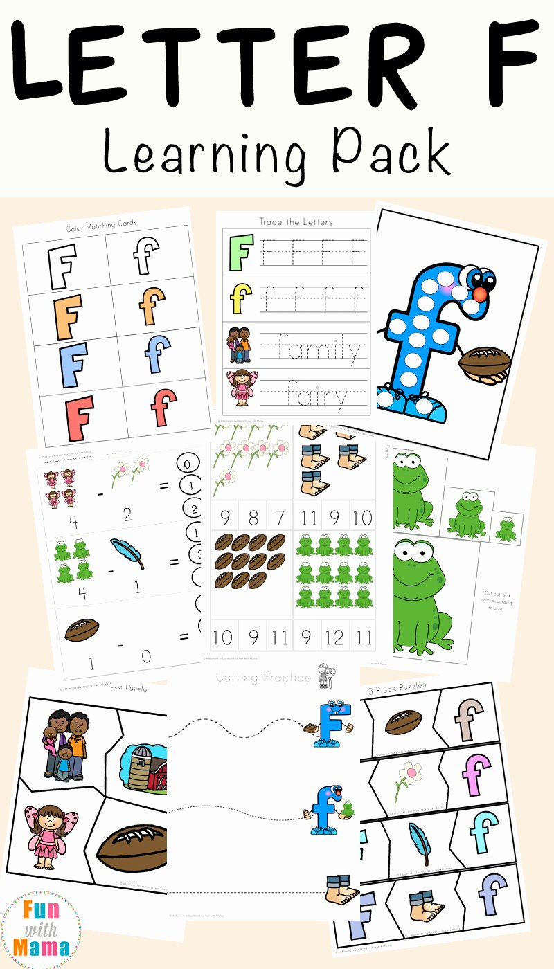 Learning Letters Worksheets for Preschoolers Unique Free Letter F Worksheets Fun with Mama
