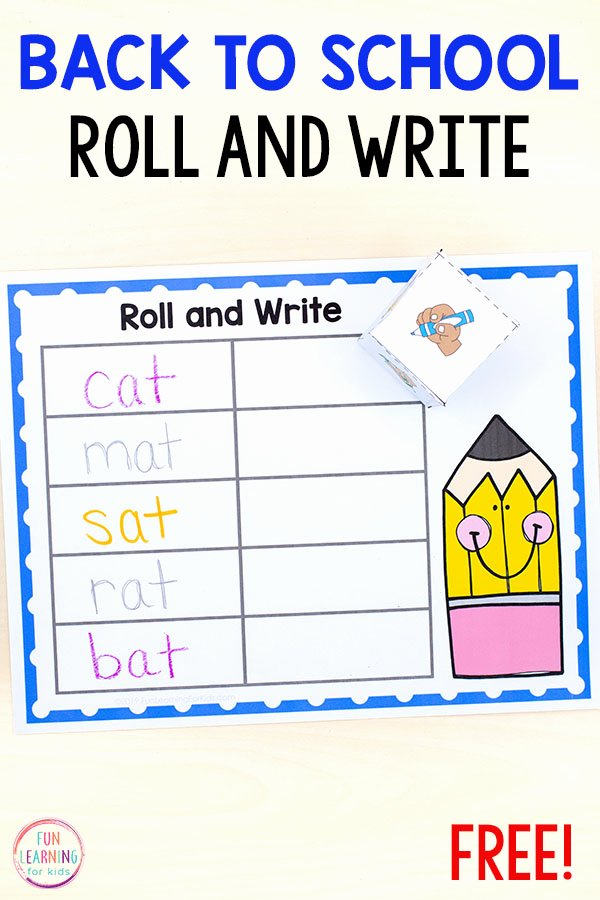 Learning to Write Your Name Worksheets for Preschoolers Inspirational Roll and Write Your Name Activity for Back to School