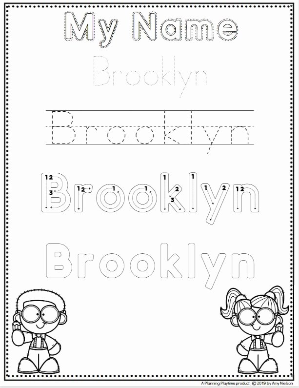 Learning to Write Your Name Worksheets for Preschoolers Lovely Name Tracing Worksheets Planning Playtime for Preschool