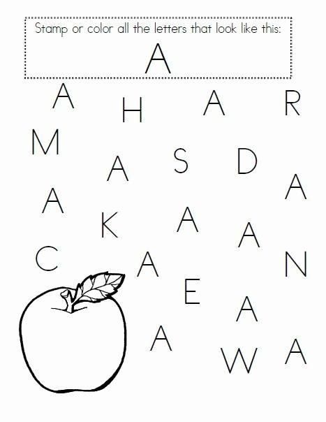 Letter A Printable Worksheets for Preschoolers top Alphabet Worksheets