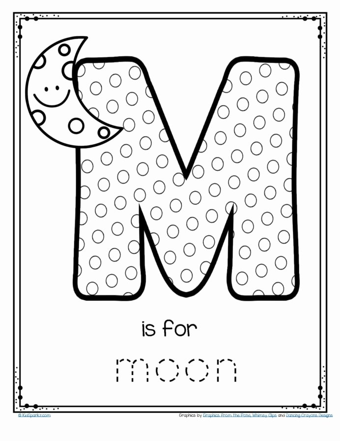 Letter A Printable Worksheets for Preschoolers Unique Worksheet Free is for Moon Alphabet Letter Printable