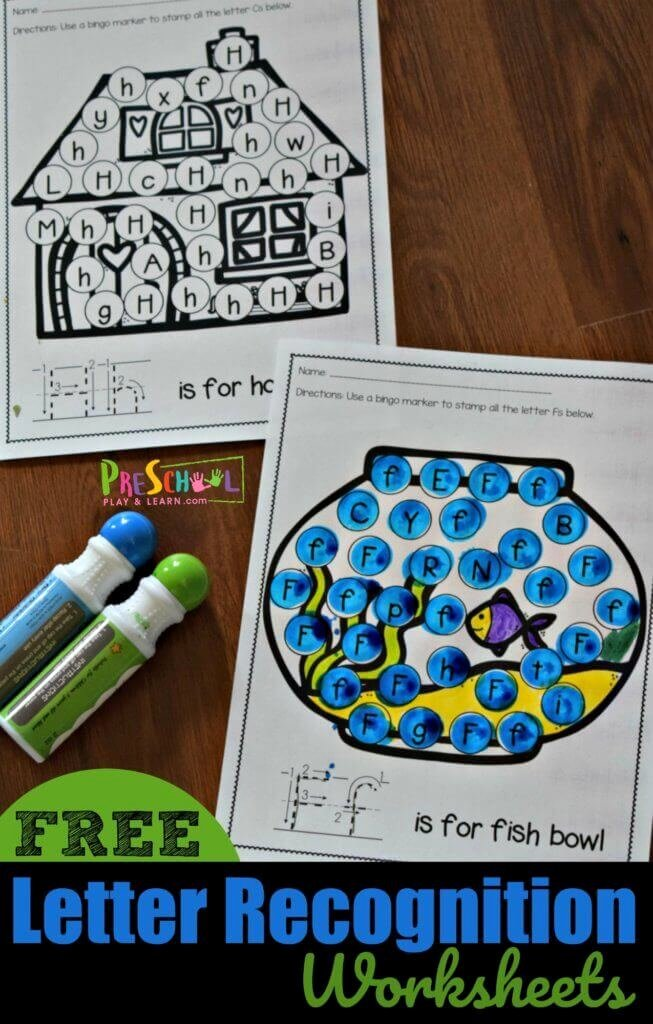 Letter A Recognition Worksheets for Preschoolers Unique Free Letter Recognition Worksheets A to Z