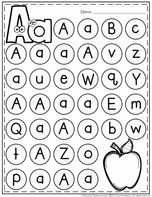 Letter A Worksheets for Preschoolers Awesome Letter Worksheets Planning Playtime for toddlers Alphabet