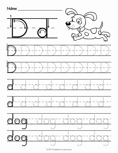 Letter A Worksheets for Preschoolers Lovely Free Printable Tracing Letter D Worksheet