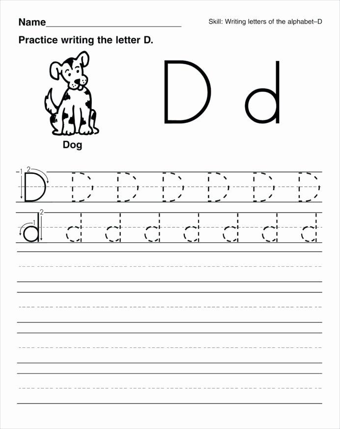 Letter A Writing Worksheets for Preschoolers Lovely Handwriting Worksheets for Kids Printable Preschool Enlarged