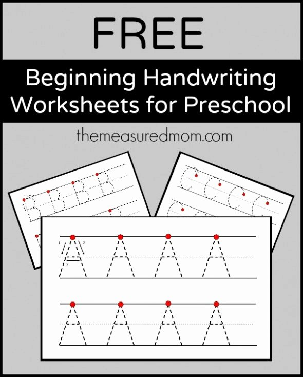 Letter A Writing Worksheets for Preschoolers top Worksheet Free Beginning Handwriting Worksheets for