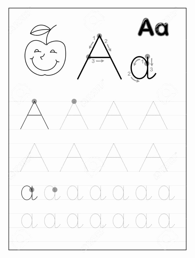 Letter Aa Worksheets for Preschoolers Beautiful Worksheet Preschool Letter Tracing Math Worksheet