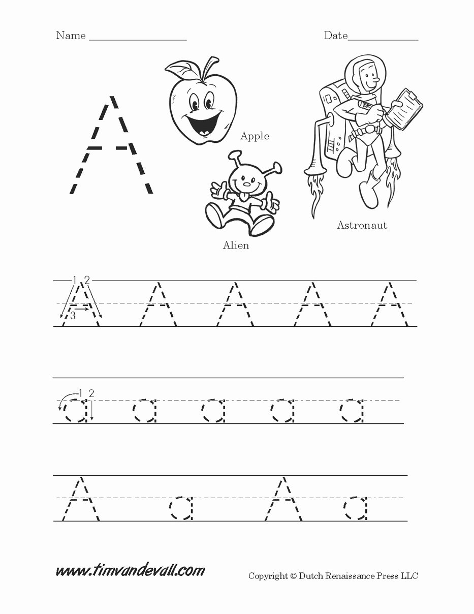 Letter Aa Worksheets for Preschoolers Inspirational Copy Aa Lessons Tes Teach