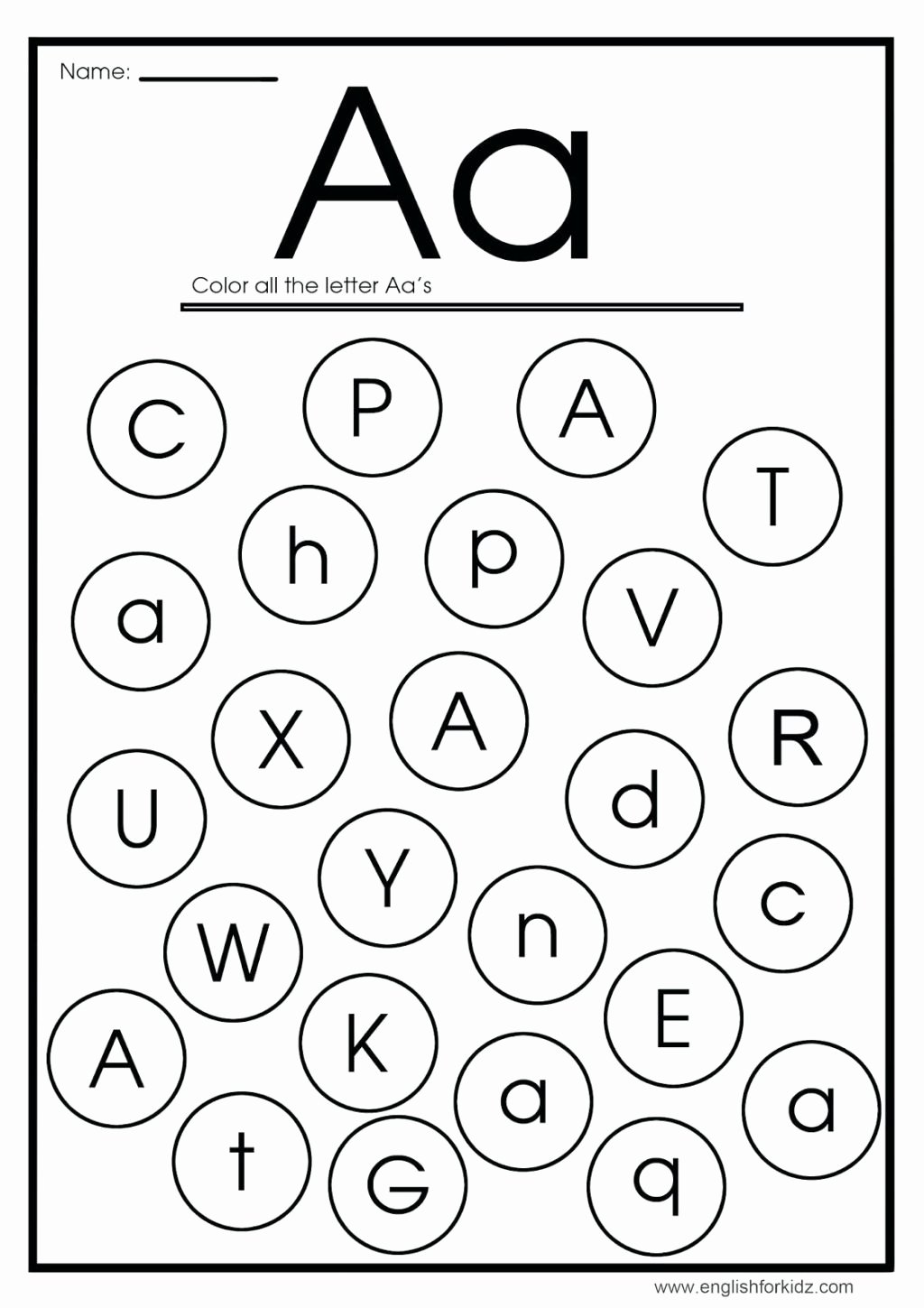 Letter Aa Worksheets for Preschoolers Lovely Worksheet the Alphabet Worksheets for Kindergarten English