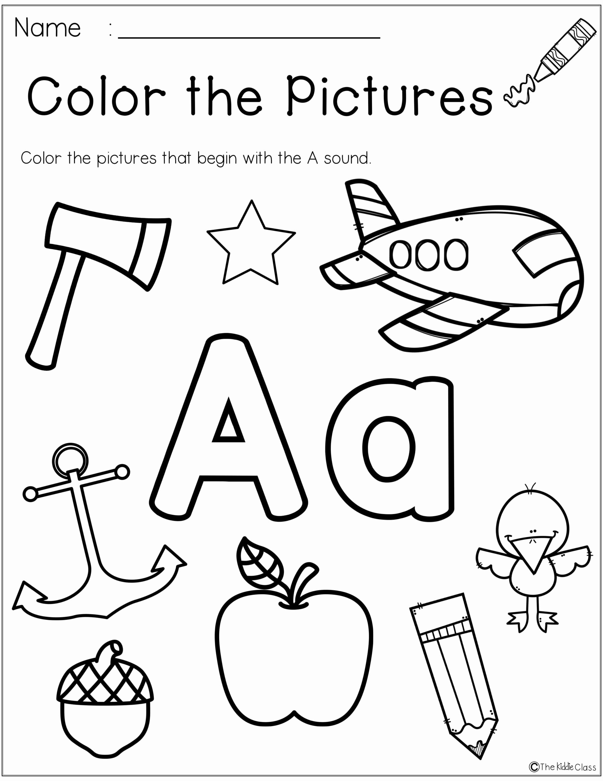 Letter Aa Worksheets for Preschoolers New Worksheets Letter the Week Kindergarten Morning Work