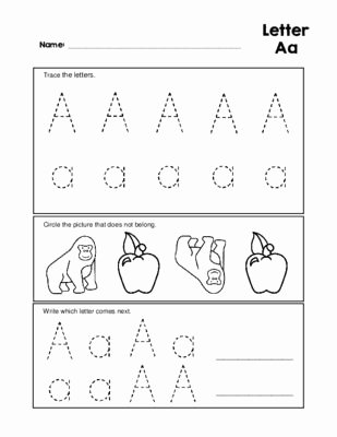Letter Aa Worksheets for Preschoolers Unique Letter Aa Tracing Practice and Patterns Worksheet Preschool
