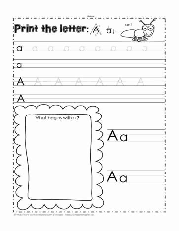 Letter Aa Worksheets for Preschoolers Unique the Letter Aa Worksheets