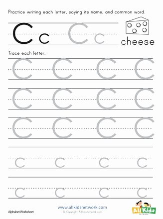 Letter C Tracing Worksheets for Preschoolers Awesome Letter C Tracing Worksheet