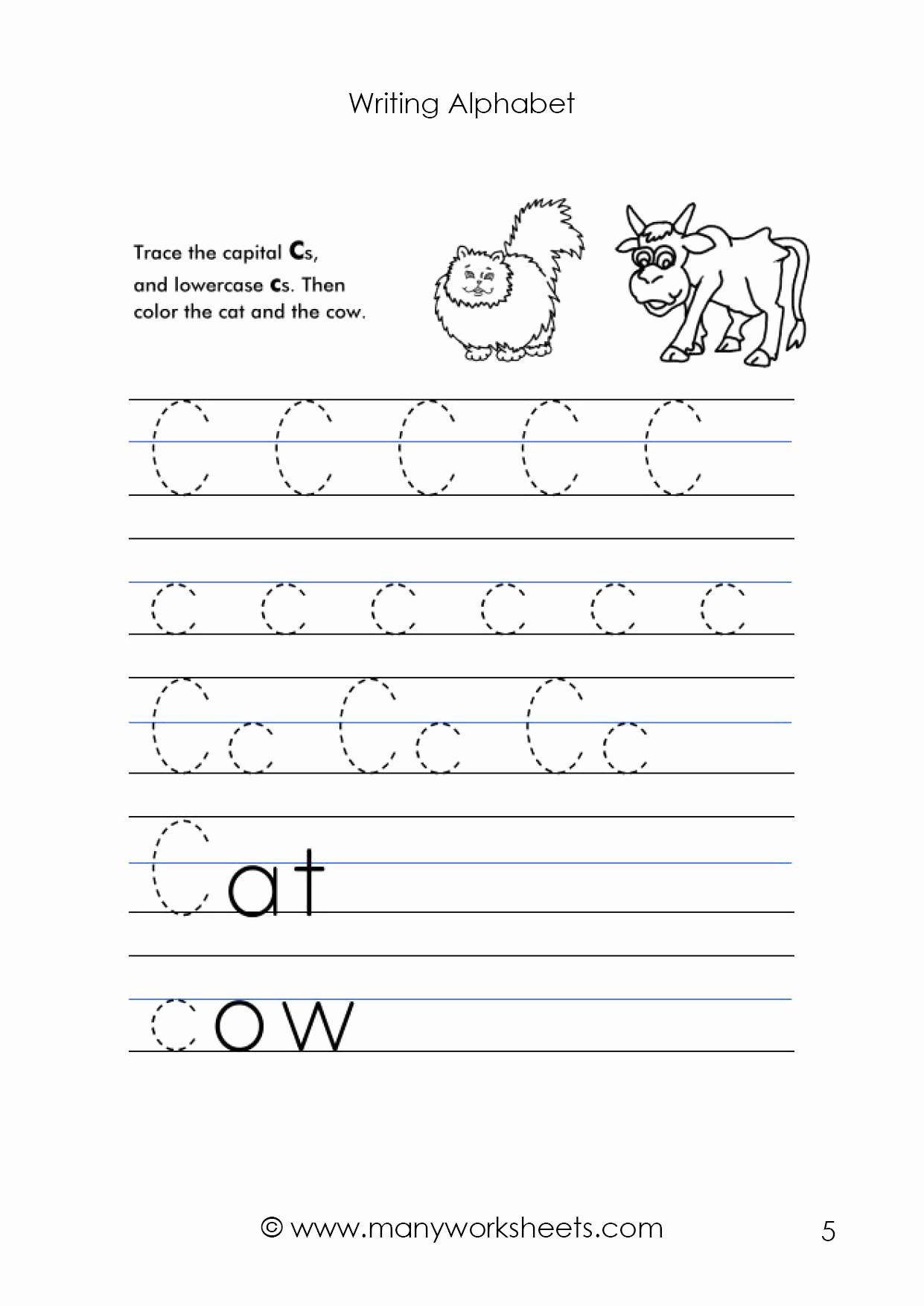 Letter C Tracing Worksheets for Preschoolers Inspirational Math Worksheet Letter Worksheet Tracing and Handwritingice