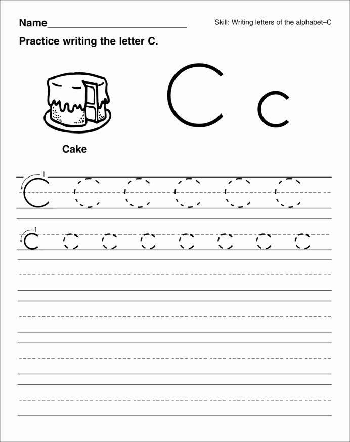 Letter C Tracing Worksheets for Preschoolers Lovely Trace the Letter Worksheets Activity Shelter for Child