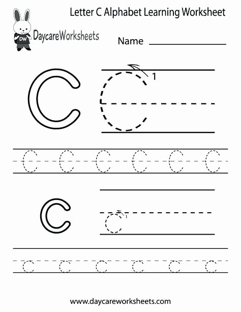 Letter C Tracing Worksheets for Preschoolers Unique 28 Letter C Worksheets for Young Learners