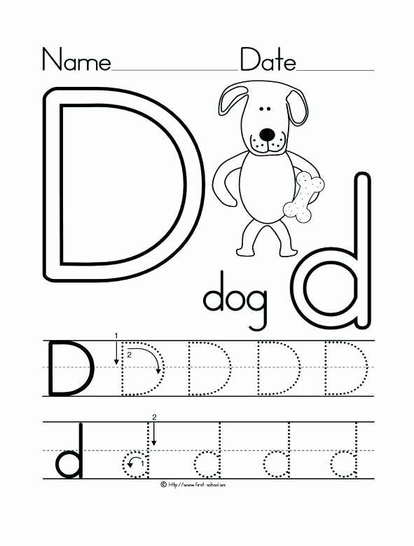 Letter D Tracing Worksheets for Preschoolers Awesome 26 Learner Friendly Letter D Worksheets