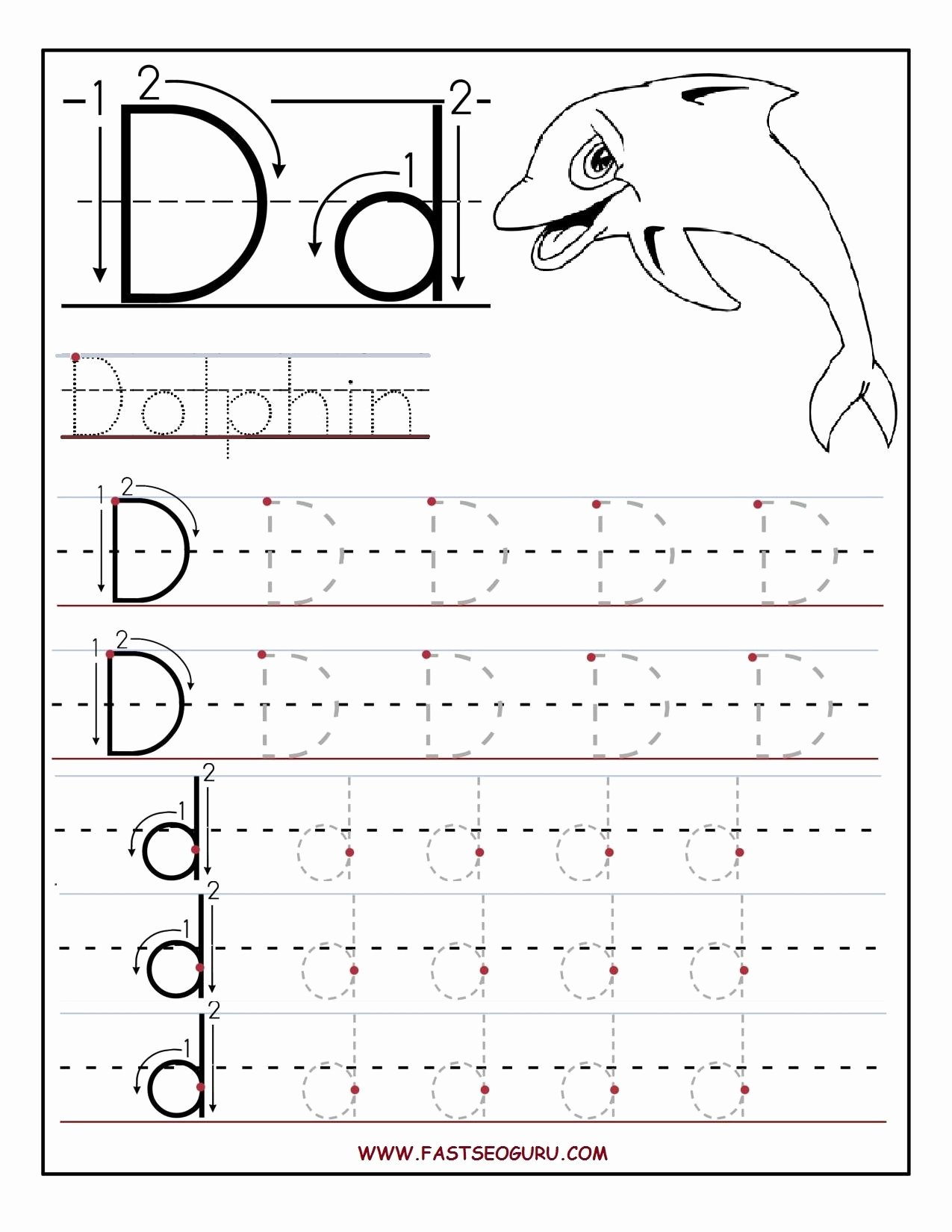 Letter D Tracing Worksheets for Preschoolers Awesome Preschool Alphabet Worksheets Printables Printable Letter A