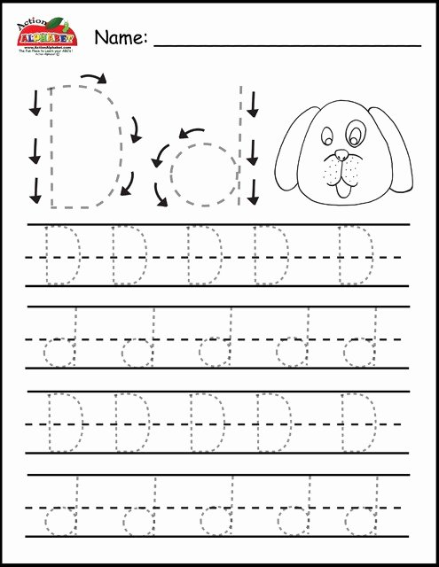 Letter D Tracing Worksheets for Preschoolers Best Of Letter D Tracing Worksheets – Mreichert Kids Worksheets