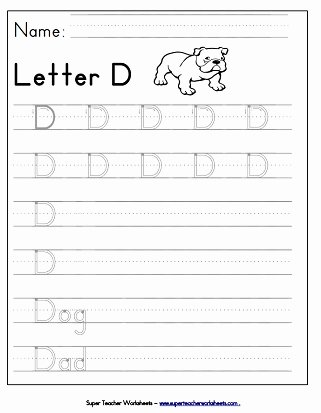 Letter D Tracing Worksheets for Preschoolers Best Of Letter D Worksheets Recognize Trace & Print